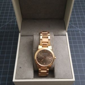 Burberry watch 38mm unisex rose gold watch